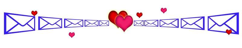 SMS-förälskelseanslutning vektor illustrationer