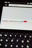 Sms heureux de jour de valentines Photo stock