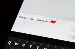 Sms heureux de jour de valentines Photos stock