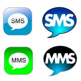 SMS icon Stock Photos
