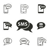 SMS icon set. SMS vector icons set. Illustration isolated for graphic and web design Royalty Free Stock Photography