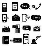 SMS icons set Stock Photos
