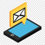 Sms isometric 3d icon royalty free illustration