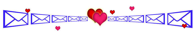 SMS love association Stock Image