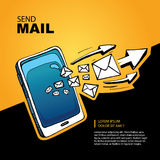 Sms and mail concept Stock Photography