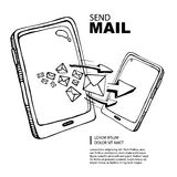 Sms and mail concept Royalty Free Stock Photos