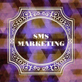 Sms Marketing Concept. Vintage design. Stock Photo