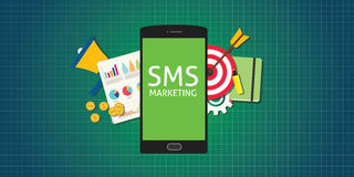 Sms marketing mobile phone smarthphone graph data money Stock Image