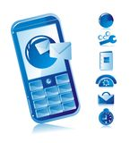 Sms mobile phone Royalty Free Stock Images