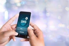 SMS-Overseinen Communicatie Bericht Waakzame Herinnering sms Stock Afbeeldingen