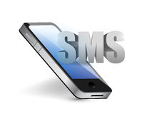 Sms phone message concept illustration Royalty Free Stock Photos