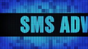 SMS que hace publicidad del tablero de la muestra de la pantalla de la pared de Front Text Scrolling LED ilustración del vector