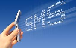 SMS Senden Lizenzfreies Stockbild