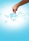 Sms sending Stock Image