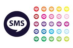 Free SMS Sign Icon. SMS Color Symbol. Royalty Free Stock Image - 149424756