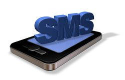 Sms smartphone Stock Photography