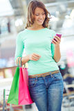 Sms about successful shopping Stock Photos