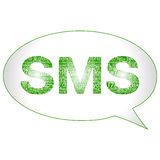 SMS symbol. Bubble (illustration in high resolution Royalty Free Stock Images