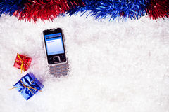 Sms to Santa Royalty Free Stock Image