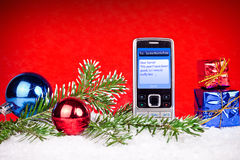 Sms to Santa North pole Royalty Free Stock Image