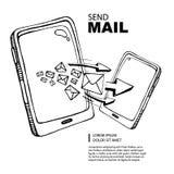 SMS y concepto del correo Fotos de archivo libres de regalías