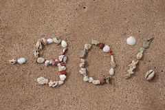 Smsa 90 procent på sand som göras från skal Royaltyfria Bilder