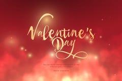 Smsa valentins guld- färg för dag i molnen Låg poly wireframekonst på röd bakgrund Begrepp för ferie eller magi eller mirakel vektor illustrationer