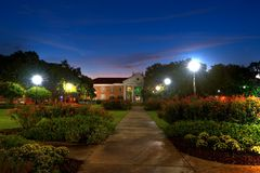 SMU. Southern Mississippi University Campus in Pre Dawn Light Stock Photos