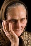 smucenie stara kobieta obraz royalty free