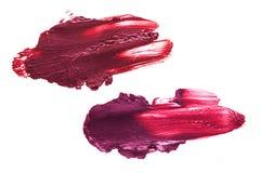 Smudge κραγιόν χρώματος μούρων Στοκ εικόνα με δικαίωμα ελεύθερης χρήσης
