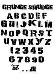 Smudge Grunge Font Stock Images