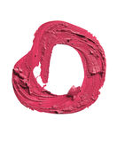 Smudged РОЗОВАЯ форма конспекта губной помады на белой предпосылке Стоковая Фотография RF