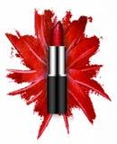 Smudged czerwień z pomadką Obrazy Royalty Free