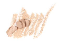 Smudged face concealer Royalty Free Stock Image