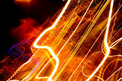 Smudged light. Smudged and blurry light stripes. Abstract background Stock Photo
