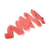 Smudged lipstick Stock Photo