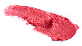 Smudged lipstick Stock Images