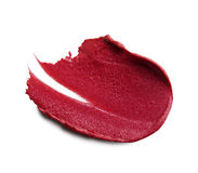 Smudged lipstick on white background Royalty Free Stock Image