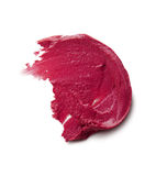 Smudged lipstick on white background Stock Photo