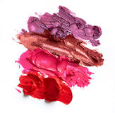 Smudged lipsticks Royalty Free Stock Photography