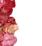 Smudged lipsticks Royalty Free Stock Images