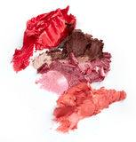 Smudged lipsticks Stock Images