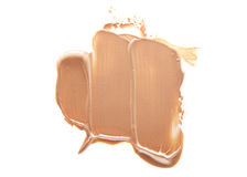 Smudged liquid foundation isolated on white. Smudged liquid make-up base isolated on a white background Stock Images
