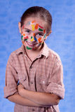 Smudged little painter Royalty Free Stock Photo