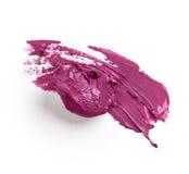 Smudged purple lipstick Stock Photos
