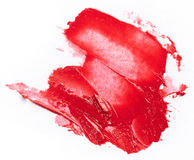 Smudged red lipstick Royalty Free Stock Image