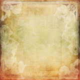 Smudged Vintage paper with frame Royalty Free Stock Images