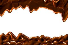 Smudges of chocolate on a white background. Stock Photography