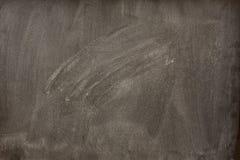 smudges det blanka radergummit för blackboarden white Arkivbild