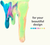 Smudges of paint, colorful abstract illustration Stock Images